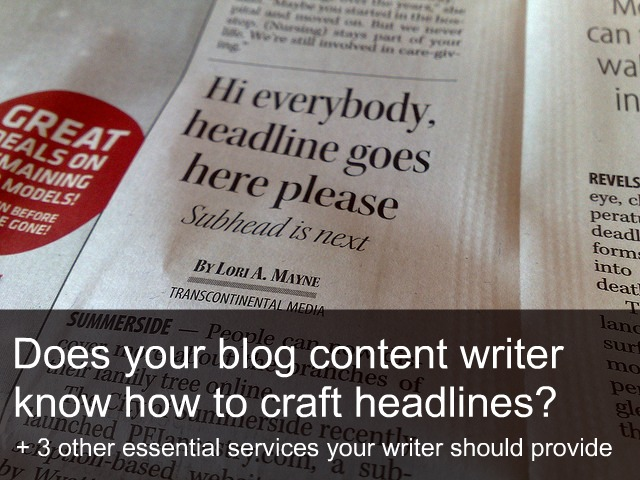 4 Services Your Blog Content Writer Should Provide
